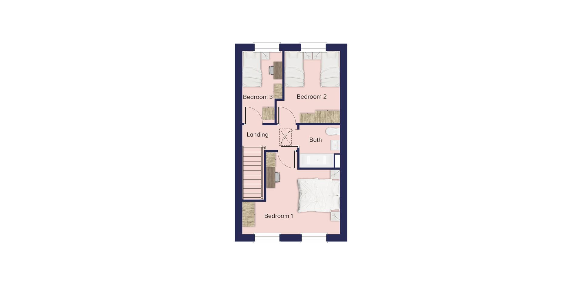 The Woodlands, Church Crookham_Plots 806, 807, 808